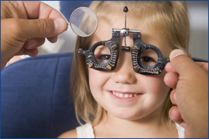 Children Getting An Eye Exam